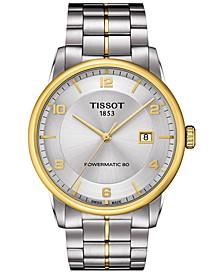 Men's Swiss Automatic Luxury Powermatic 80 Two-Tone Stainless Steel Bracelet Watch 41mm