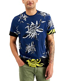 INC Men's Abstract Floral Lovely T-Shirt, Created for Macy's