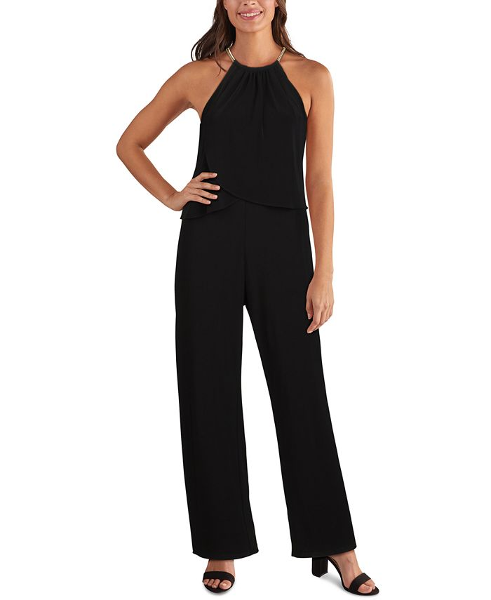 kensie - Embellished Popover Jumpsuit