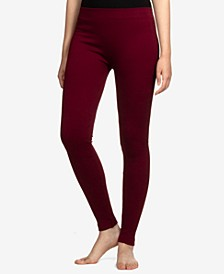 Juniors' Ribbed-Knit Fleece-Lined Leggings