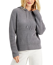 Ribbed Hoodie Sweater, Created for Macy's