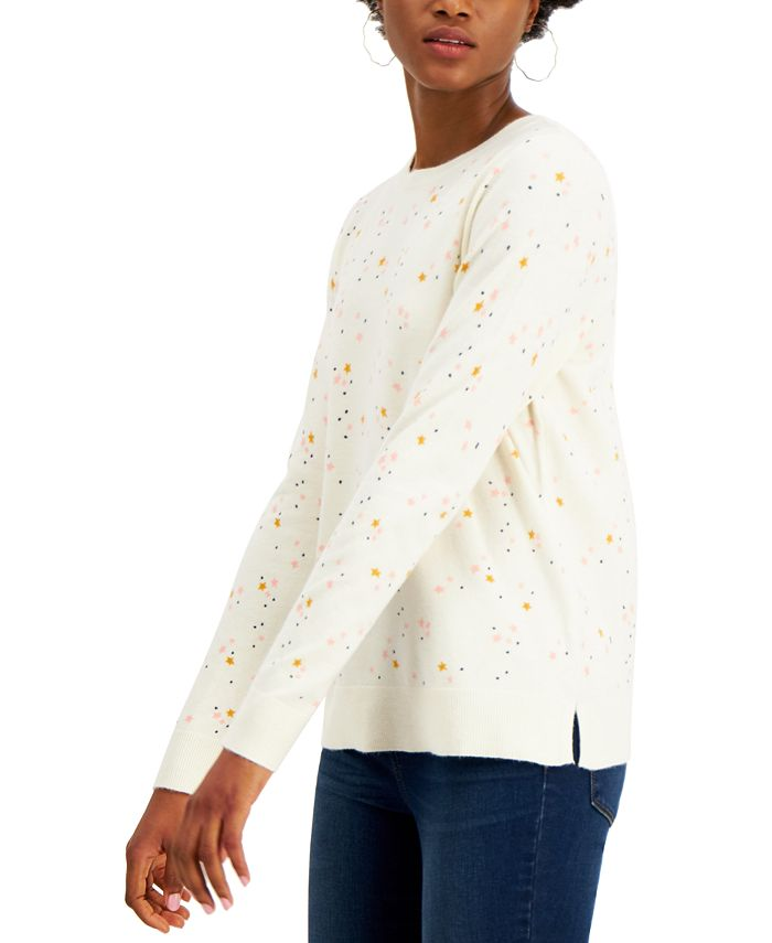 Style & Co - Star-Print Sweater