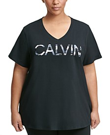 Plus Size Camo Logo T-Shirt