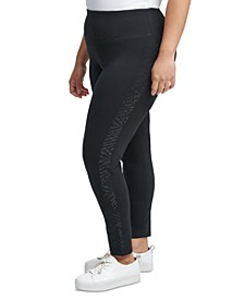 Plus Size Embellished-Side Leggings
