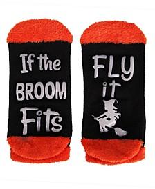 Women's If The Broom Fits Halloween Low-Cut Socks