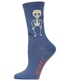 Women's Skeleton Halloween Crew Sock