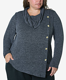 Adrienne Vittadini Women's Plus Size Cozy Knit Top