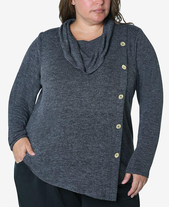 Adrienne Vittadini Women's Plus Size Cozy Knit Top