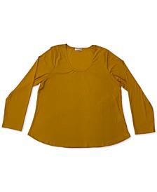 Trendy Plus Size Scoop-Neck Top