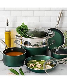 10-Piece Nonstick Diamond Infused Cookware Set