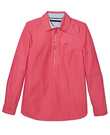 Women's Zip-Front Popover Top