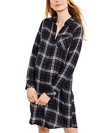 Maternity Plaid Shirtdress