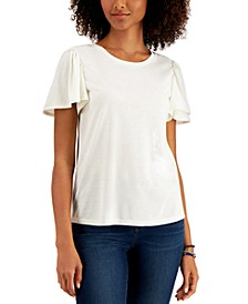 Angelina Flutter-Sleeve Top, Created for Macy's