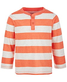 Toddler Boys Long-Sleeve Rugby Henley, Created for Macy's