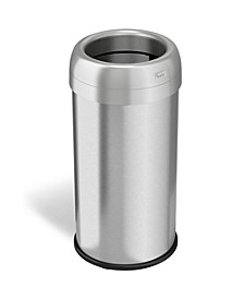 Dual Deodorizer Round Open Top Stainless Steel Trash Can 16 Gallon