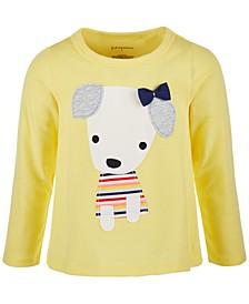 Toddler Girls Lovestruck Dog Long-Sleeve Cotton T-Shirt, Created for Macy's