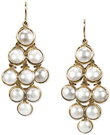 INC Gold-Tone Imitation Pearl Chandelier Earrings, Created for Macy's