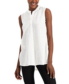 Petite Textured Sleeveless Tunic, Created for Macy's