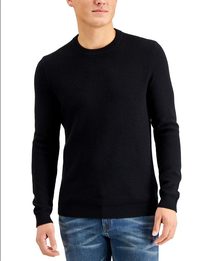 Michael Kors - Men's Regular-Fit Textured Stitch Sweater