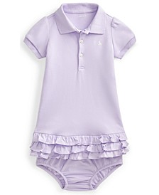 Ralph Lauren Baby Girls Ruffled Polo Dress and Bloomer
