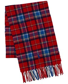 Men's Recycled Plaid Cold Weather Scarf