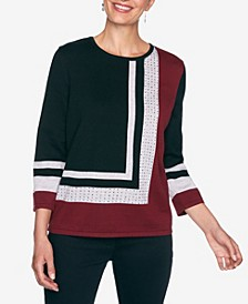 Women's Plus Size Madison Avenue Colorblock Sweater