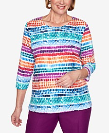 Women's Plus Size Classics Chicklet Biadere Top