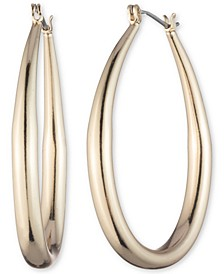 Gold-Tone Medium Hoop Earrings, 1.7""
