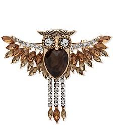 Two-Tone Stone Owl Boxed Pin