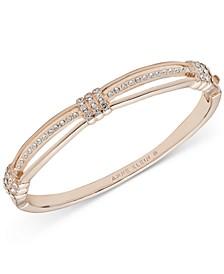 Rose Gold-Tone Crystal Hinge Bracelet