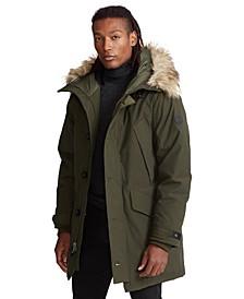 Men's Faux Fur–Trim Down Parka