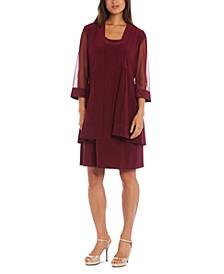 Petite 2-Pc. Embellished Jacket & Dress Set