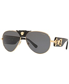 Men's Polarized Sunglasses, VE2150Q 62