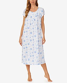 Floral-Print Jersey Cotton Ballet Nightgown