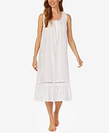 Cotton Sleeveless Long Nightgown