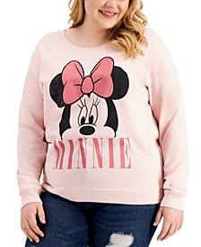 Trendy Plus Size Peeking Minnie Graphic Sweatshirt