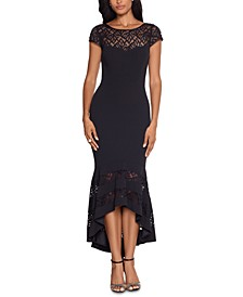 Lace Flounce Midi Dress & Face Mask