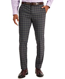 Men's Slim-Fit Performance Stretch Dress Pants