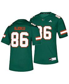 adidas Miami Hurricanes David Njoku Men's Replica Football Jersey