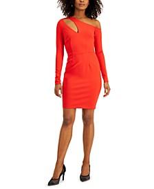 Asymmetrical Neckline-Cutout Dress, Created for Macy's