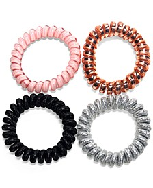 INC 4-Pc. Multicolor Coiled Hair Tie Set, Created for Macy's