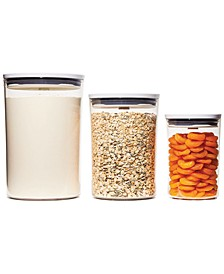Good Grips Round Pop Graduated Food Storage Canisters, Set of 3