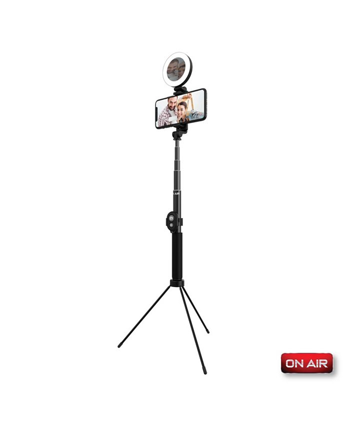 Tzumi Onair Halo Stick 5 Inch Ring Light with Extendable 4 ft. Tripod