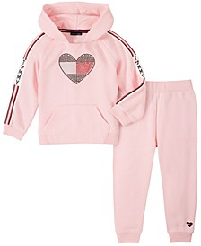 Baby Girls Hooded Fleece Pant Set