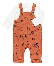 Mac & Moon Baby Boy 2pc Overall Set