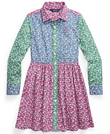 Big Girl Floral Cotton Fun Shirtdress