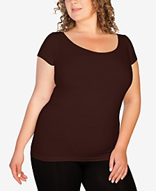Plus Cap Sleeve Tee