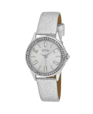 Women's Silver-Tone Alloy Strap Baguette Stone Bezel Watch