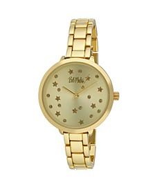 Women's Gold-Tone Alloy Bracelet Link Watch, 36mm