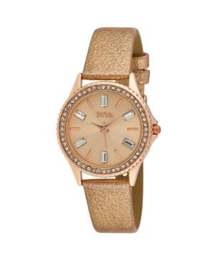 Women's Pink Alloy Strap Baguette Stone Bezel Watch